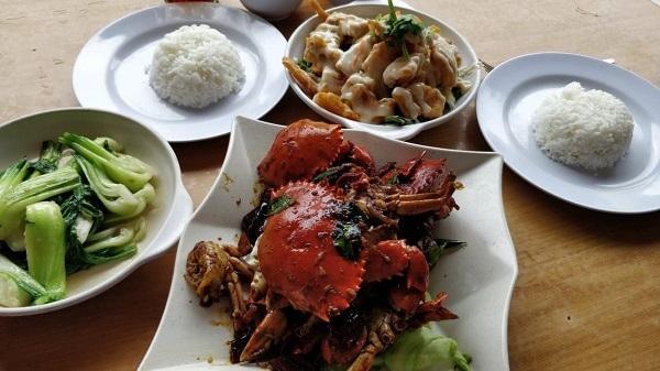 lunch in chinatown in Kuala Terengganu